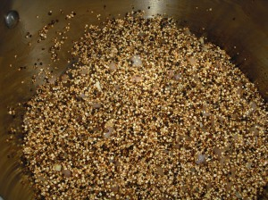 Toasting the quinoa intensifies its flavor and color.