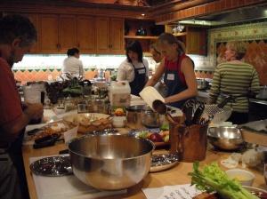 Guests of Rancho la Puerta prepare a lavish dinner at La Cocina que Canta.