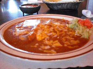A plate of cheese enchiladas at La Cita is worth a short detour off the interstate.