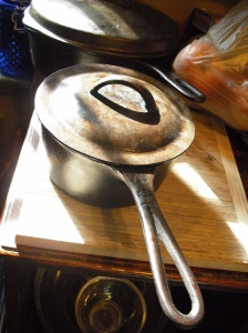 Elbow grease and patience restored a rusted-out vintage saucepan to cooking glory.