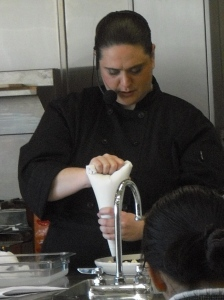 Chef Andi offers a molecular gastronomy demo at Surfas in L.A.