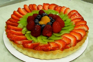 Looks count when it comes to fruit tart.
