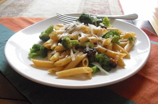 Penne Pasta Toss is idea when you want dinner cheap and in a hurry.