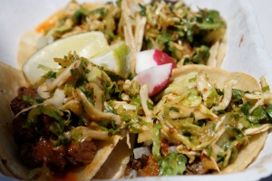 Kogi Korean Short Rib and Spicy Pork Tacos