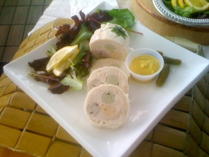 A chicken galantine may look pretty, but it's not so pretty to produce.
